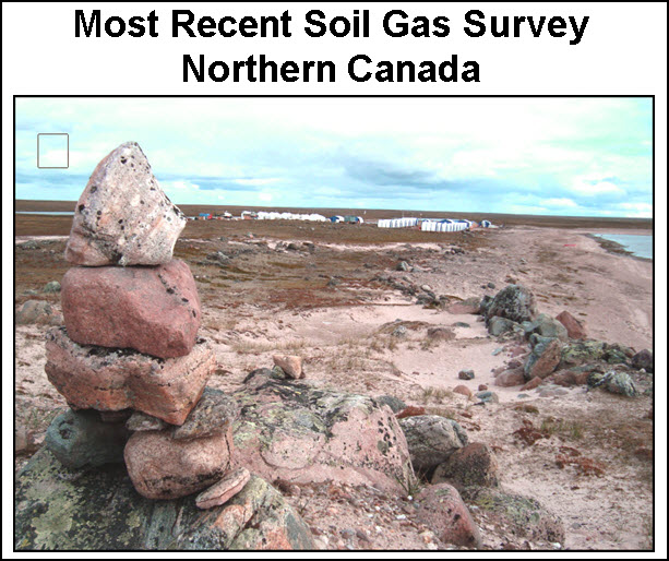 most recent soil gas survey northern canada